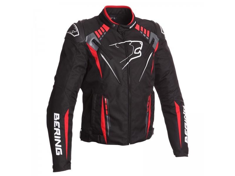 f81f32708adb Pánska moto bunda PRIMO-R BERING čierna červená
