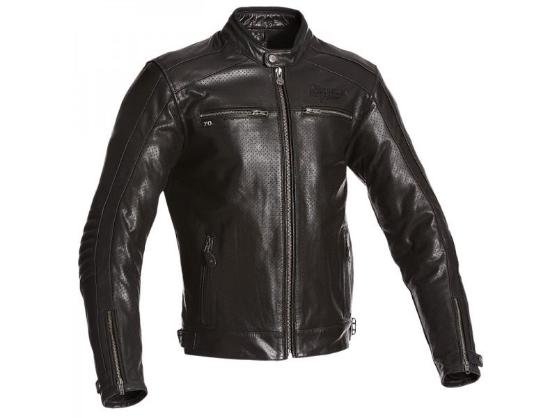 7ab5981d24b6 Pánska kožená bunda IRON čierna